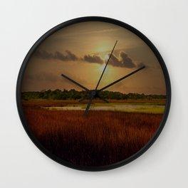Sunset Sky Wall Clock