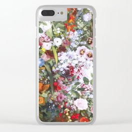 Spring riot of flowers - Courbet inspired Clear iPhone Case