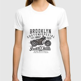 Motorcycle Brooklyne  Clasic Motorcycle T-shirt
