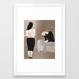 Why Are You Always So Sad? Framed Art Print