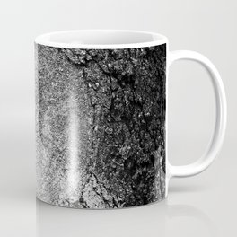 Natural Heart Shape in Tree Bark Black and White Coffee Mug