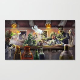 Dr. Frank 'n' Stein Canvas Print
