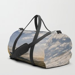 Majestic Beautiful Male African Lion Chilling In Desert At Romantic Sunset Ultra HD Duffle Bag