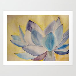 Blue lotus flower Art Print