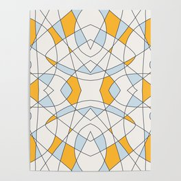 Abstract Retro Colored Church Window Poster