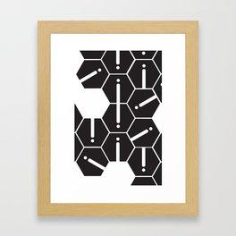 Hexgrid Framed Art Print