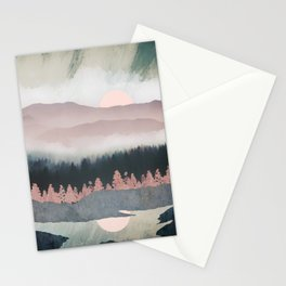 Forest Lake Evening Stationery Cards
