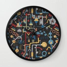 Pipe Dreams - Dark Primary Wall Clock