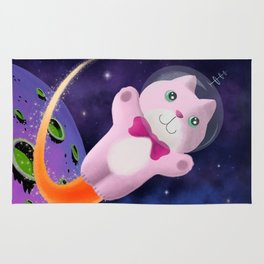 Captain Space Kitty Of The 24th Century Rug