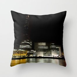 The Shard and Southbank Throw Pillow