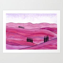 Shades of Tuscany Art Print