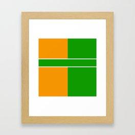 Team Color 6...green,orange Framed Art Print