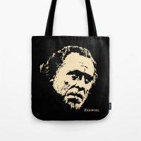 bukowski Tote Bags featuring Bukowski#! by f_e_l_i_x_x