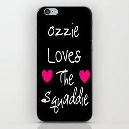Doctor Who Ozzie Loves The Squaddie iPhone Skin