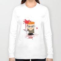 dexter Long Sleeve T-shirts featuring Dexter by Gianluca Gentile
