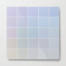 Pastel Square Gradient Pattern Metal Print