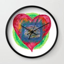 Heart of the soul mandala Wall Clock