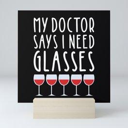 My doctor says I need glasses Mini Art Print