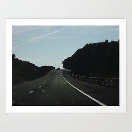 the black road Art Print