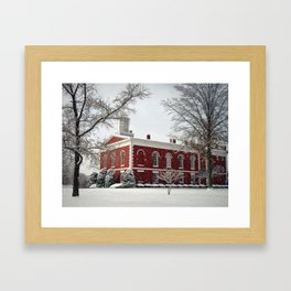 Side View of the Iron County Courthouse Framed Art Print