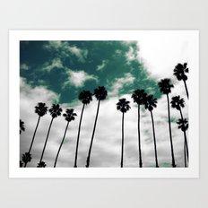 Palms in the sky Art Print