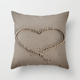 Heart Love Sand Throw Pillow