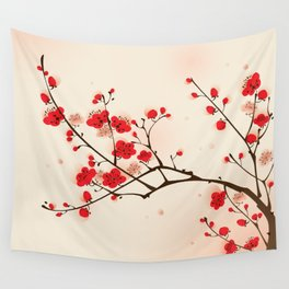 Oriental plum blossom in spring 009 Wall Tapestry