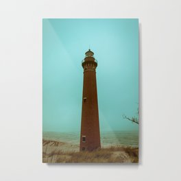 Little Sable Point Lighthouse Beach Brick Light Tower Lake Michigan Metal Print