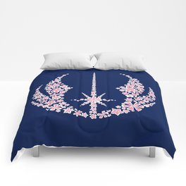 Jedi Flowers in Blue White and Pink Comforters
