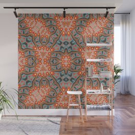 Energy Light | Orange & Teal geometry Wall Mural