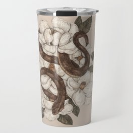 Snake and Magnolias Travel Mug