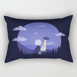 UFO Cow Abduction Rectangular Pillow
