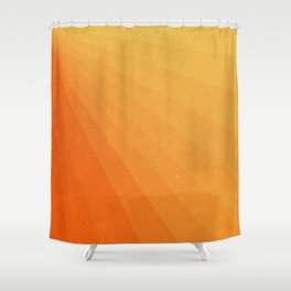 Shades of Sun - Line Gradient Pattern between Light Orange and Pale Orange Shower Curtain