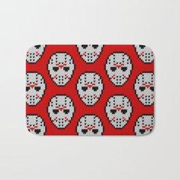 Knitted Jason hockey mask pattern Bath Mat