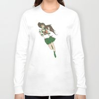 sailor jupiter Long Sleeve T-shirts featuring Sailor Jupiter by Neal Julian
