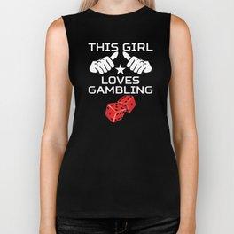 This Girl Loves Gambling Biker Tank