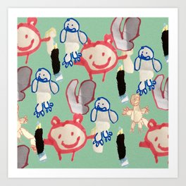 Little Monsters by Brody Art Print