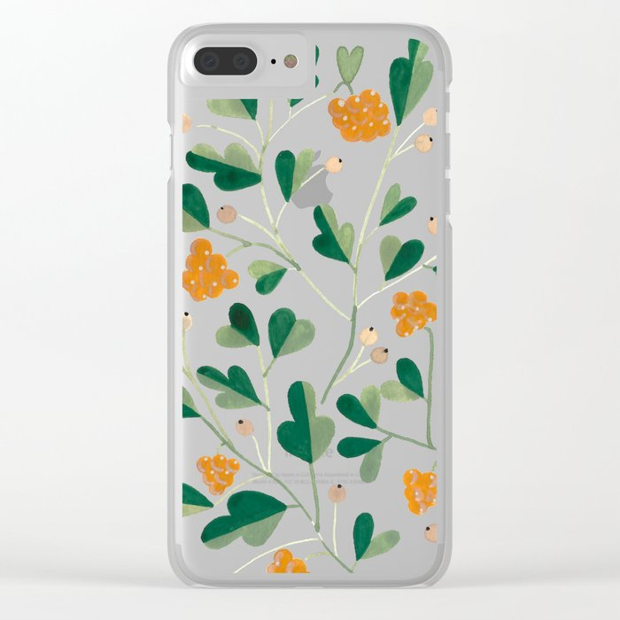 Cloudberries Clear iPhone Case