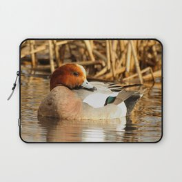 Eurasian Wigeon at the Pond Laptop Sleeve