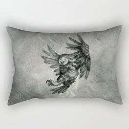 The Owl and the Witch Rectangular Pillow