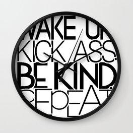 Wake Up, Kick Ass! Wall Clock