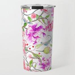 peony pattern Travel Mug