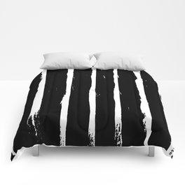 Minimal [3]: a simple, black and white pattern by Alyssa Hamilton Art Comforters