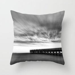 Moody days of winter Throw Pillow