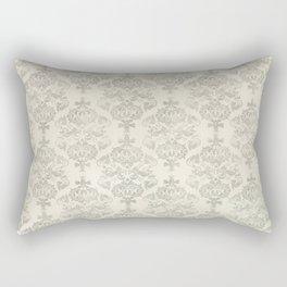 Beige Watercolor Damask Pattern Rectangular Pillow