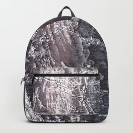 Dark slate gray colorful wash drawing texture Backpack