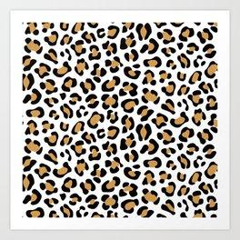 Leopard Print - Bg White Art Print