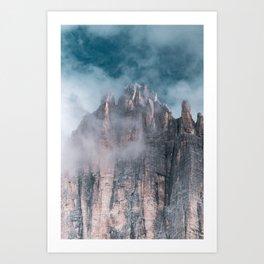 Tre Cime Digital Print, Italy, Dolomites Mountain Poster, South Tyrol Printable, Nature Landscape Art Print
