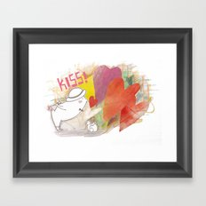 Who you gonna to KISS ? Framed Art Print