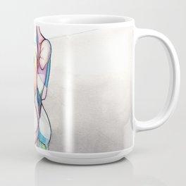 Anatomical Helen, nude female anatomy drawing, NYC Artist Coffee Mug
